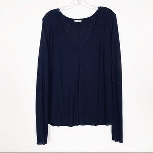 Intimately Free People V Neck Long Sleeve Top